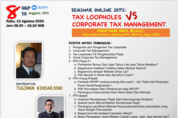 Tax Loopholes VS Corporate Tax Management