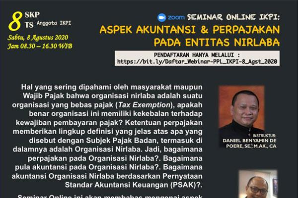 Aspek Akuntansi & Pajak entitas Nirlaba (Batch-3)